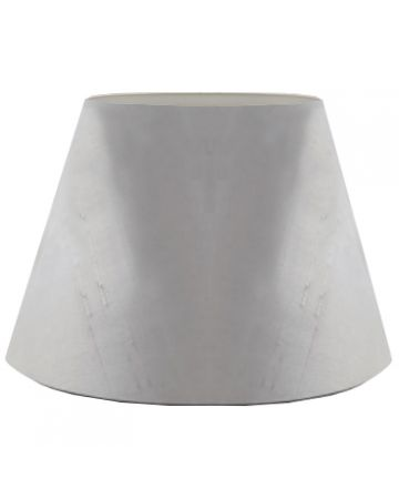 French Grey Silk Drum Shade - 18""