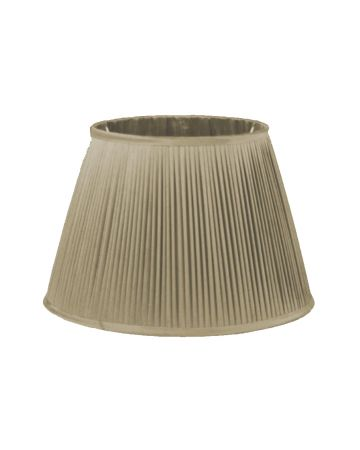 Oyster Silk Pleated Shade - 14""