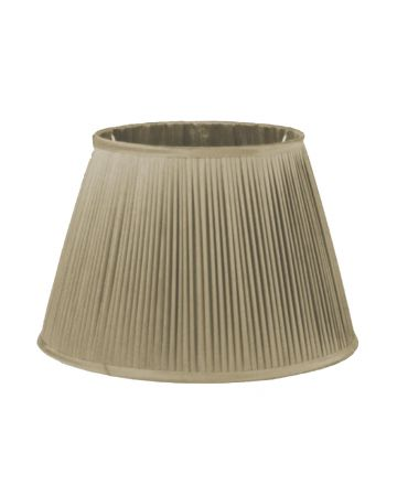 Oyster Silk Pleated Shade - 16""