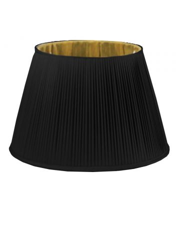Black & Gold Silk Pleated Shade - 18""
