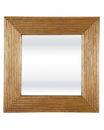Mustique Square Mirror - Gold