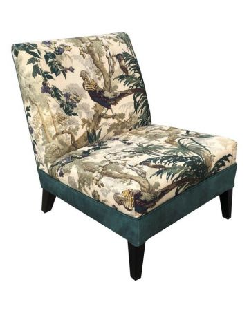 Romney Slipper Chair - Forest