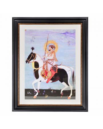 Mughal Emperor Shah Jahan Framed Print