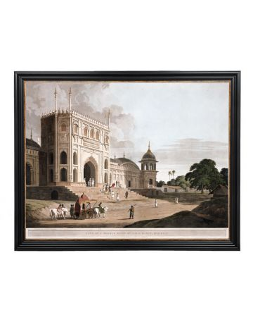 Gate of the Mosque Built by Hapiz Ramut in Pilibeat - Thomas Daniell Large Framed Print