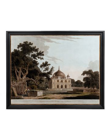 Mausoleum of Sultan Chisero - Thomas Daniell Large Framed Print