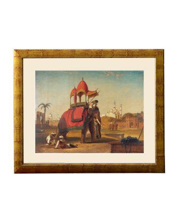 A Caparisoned Elephant - Scene near Delhi (A Scene in the East Indies) - William Daniell