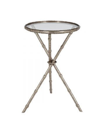Raffles Round Side Table - Silver