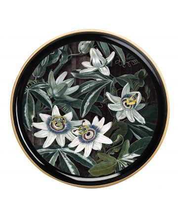 Al Fresco Round Tray - Passion Flower