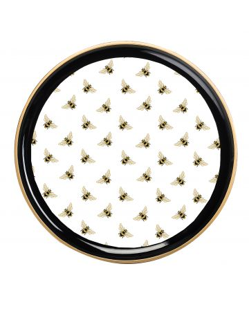 Al Fresco Round Tray - Bee
