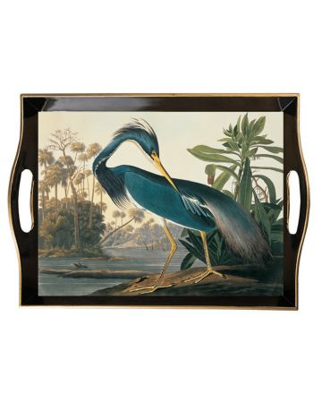 Al Fresco Tray - Audubon's Louisiana Heron