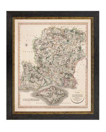 Hampshire County Map - Portrait