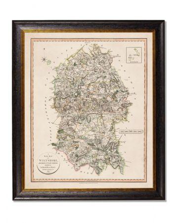 Wiltshire County Map - Portrait