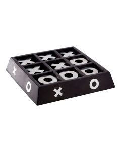 Noughts And Crosses Game - Black Wood
