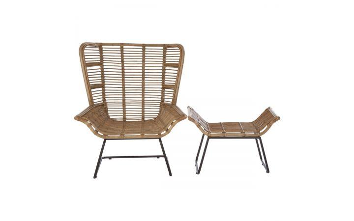 Pollensa Terrace Chair & Stool Set - 86cm