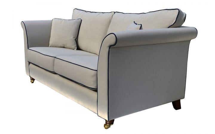 Gatsby Medium Sofa - 'Koki' Chino, Piped In 'Koki' Denim