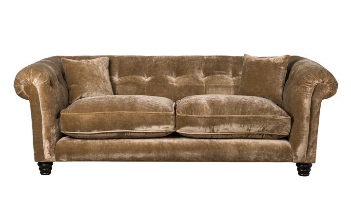 Hampton 3 Seat Sofa - Designers Guild 'Pavia' Biscuit