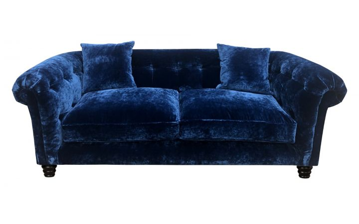Hampton 3 Seat Sofa - Designers Guild Pavia Indigo