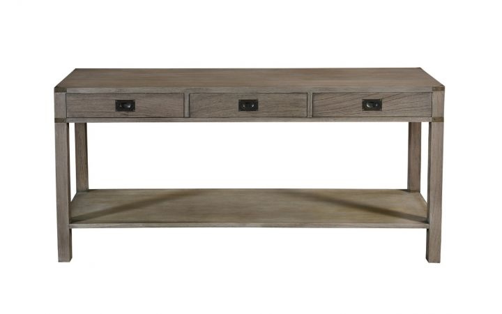 Wellington 3 Drawer Console Table - Grey