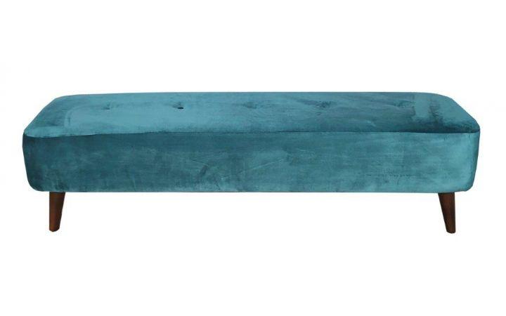Porto Large Bench Stool - 'Lumino' Teal